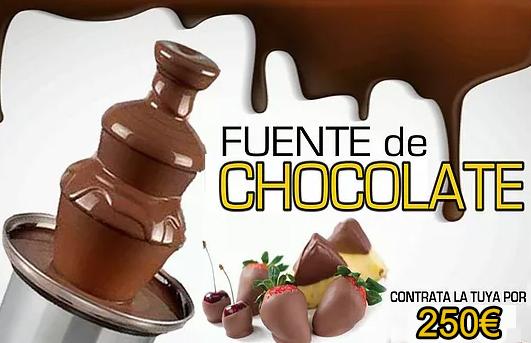 fuente de chocolate 250€