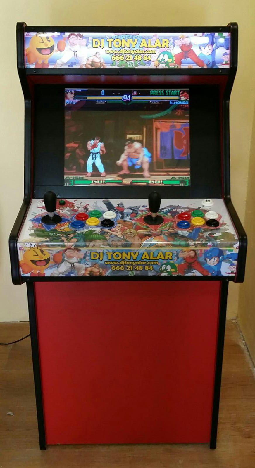 Máquina arcade retro vintage
