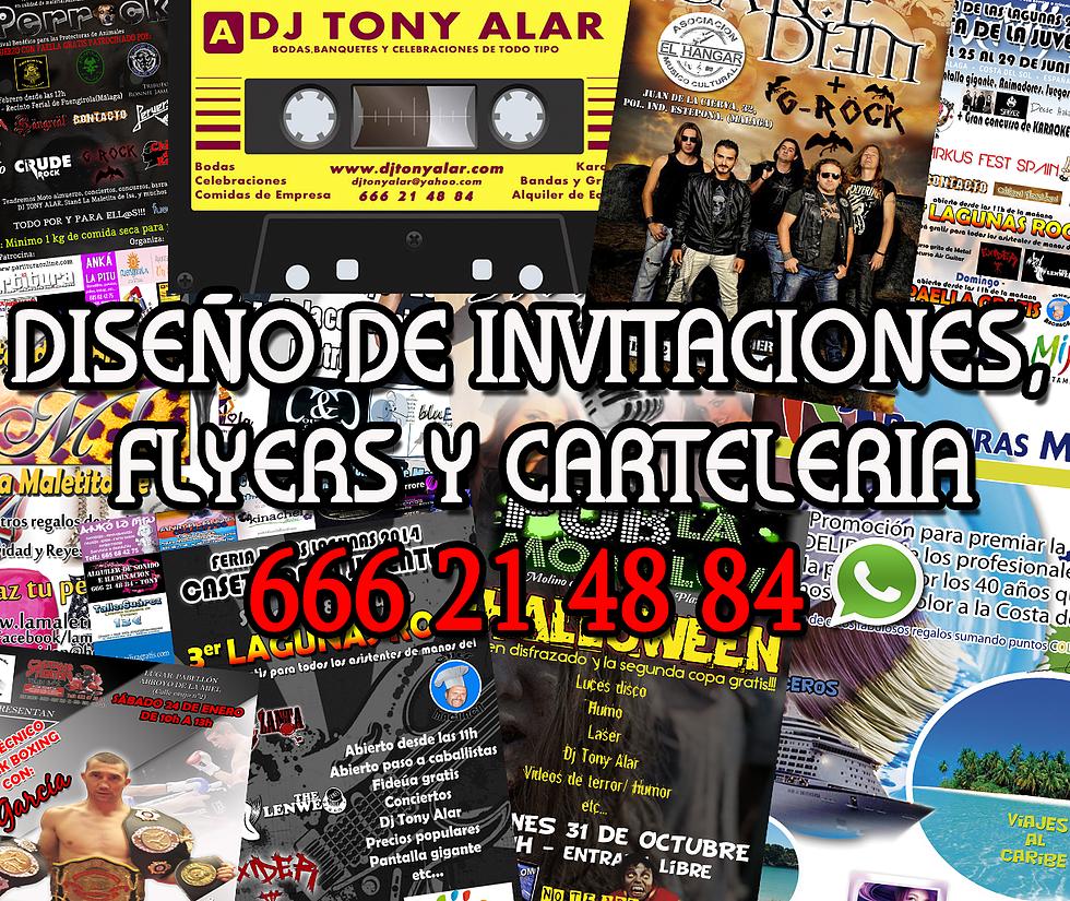 Diseño de invitaciones, flyers y carteleria